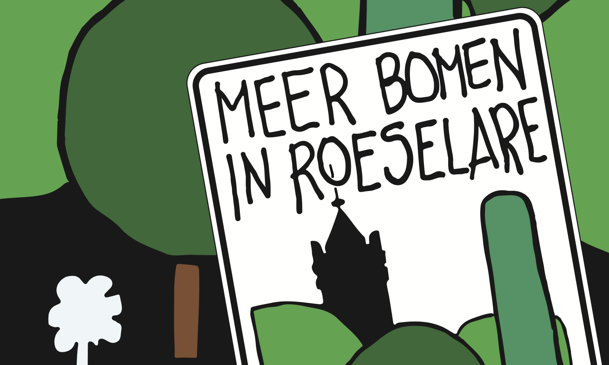 Meer bomen in Roeselare